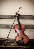 Violino velho fotografia de stock