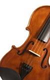 Violino vicino in su contro bianco. Immagine Stock Libera da Diritti