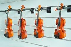 Violinos Fotografia de Stock