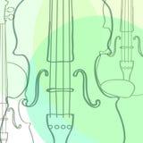 Violinos Ilustração Stock