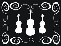 Violinos brancos Fotografia de Stock Royalty Free
