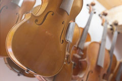 Violins background Royalty Free Stock Photos
