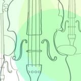 Violins. Creative  violins on a background Stock Images