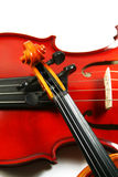 Violins isolated on a white background Stock Photo