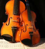 Violins & music Royalty Free Stock Photo