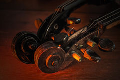 Violins new and old Royalty Free Stock Photo