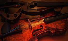 Violins new and old 2 Royalty Free Stock Photos