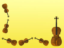 Violins. Simple hand drawn background illustration with musical notes and violins Stock Images