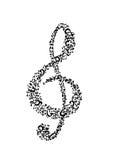 Violinschlüssel Lizenzfreies Stockbild