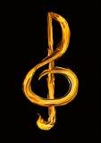 Violinschlüssel von einem Feuer Lizenzfreies Stockfoto