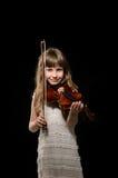 Violist die de viool spelen stock afbeeldingen