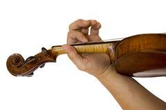 Violist die een viool speelt stock afbeeldingen