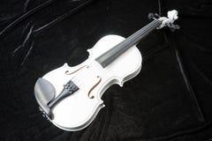 Violín blanco en negro Fotografía de archivo libre de regalías