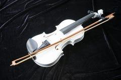 Violín blanco en negro Foto de archivo libre de regalías