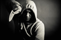 Violoent gang member Royalty Free Stock Images