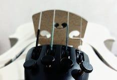 Violon blanc Image libre de droits