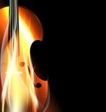 Violon brûlant Image libre de droits