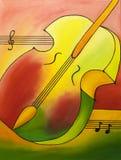 Violon coloré illustration stock