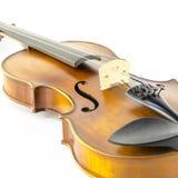 Violon d'instrument de ficelle de musique d'isolement sur le blanc Photos libres de droits