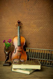 Violon dans le style de vintage Photo libre de droits