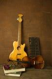 Violon et guitare dans le style de vintage Images stock