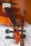 Violon et violon Photographie stock