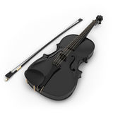 Violon noir Photo stock