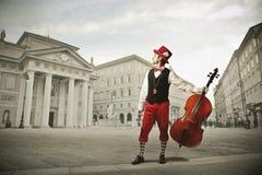 Violoncelista imagens de stock royalty free