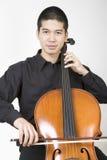 Violoncelista asiático 1 Fotos de archivo