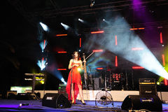 Violoncelista croata famoso Ana RuÄner imagem de stock royalty free