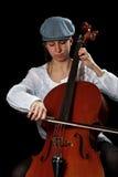 Violoncelista joven Foto de archivo libre de regalías