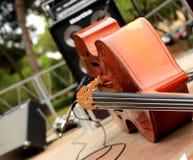 Violoncell och musikinstrument Royaltyfria Foton