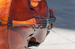 Violoncelldetalj Royaltyfri Bild