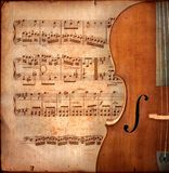 Violoncelle d'Anitique Image stock