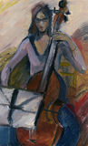 Violoncellist Imagens de Stock Royalty Free