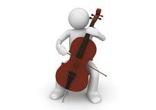 Violoncellista Fotografia Stock Libera da Diritti
