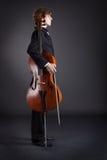Violoncelliste et violoncelle photos libres de droits