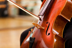 Violoncello. Classical music concept: Violoncello close up stock photography