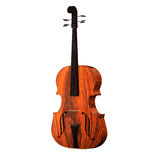 Violoncello isolated with wihte Royalty Free Stock Photo