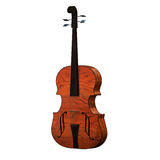 Violoncello isolated with wihte Stock Photos