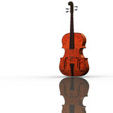 Violoncello isolated with wihte Royalty Free Stock Image