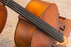Violoncello in music room Stock Photography