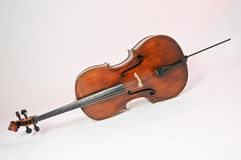 Violoncello, musical instrument. On the white background stock photo