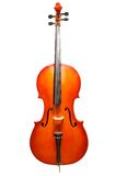 Violoncello standing on the white background Royalty Free Stock Photography