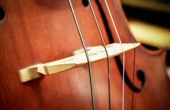 Violoncello - strumenti musicali dell'orchestra Fotografie Stock Libere da Diritti