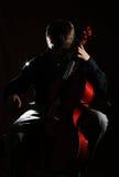 violoncellspelare Royaltyfri Foto