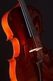 Violoncelo de la música en sitio oscuro Fotografía de archivo libre de regalías
