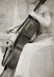 Violoncelo do vintage Imagens de Stock