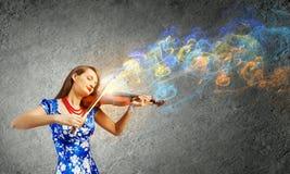 Violoniste de femme Images libres de droits
