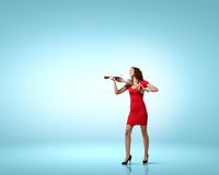 Violoniste de femme Photo stock